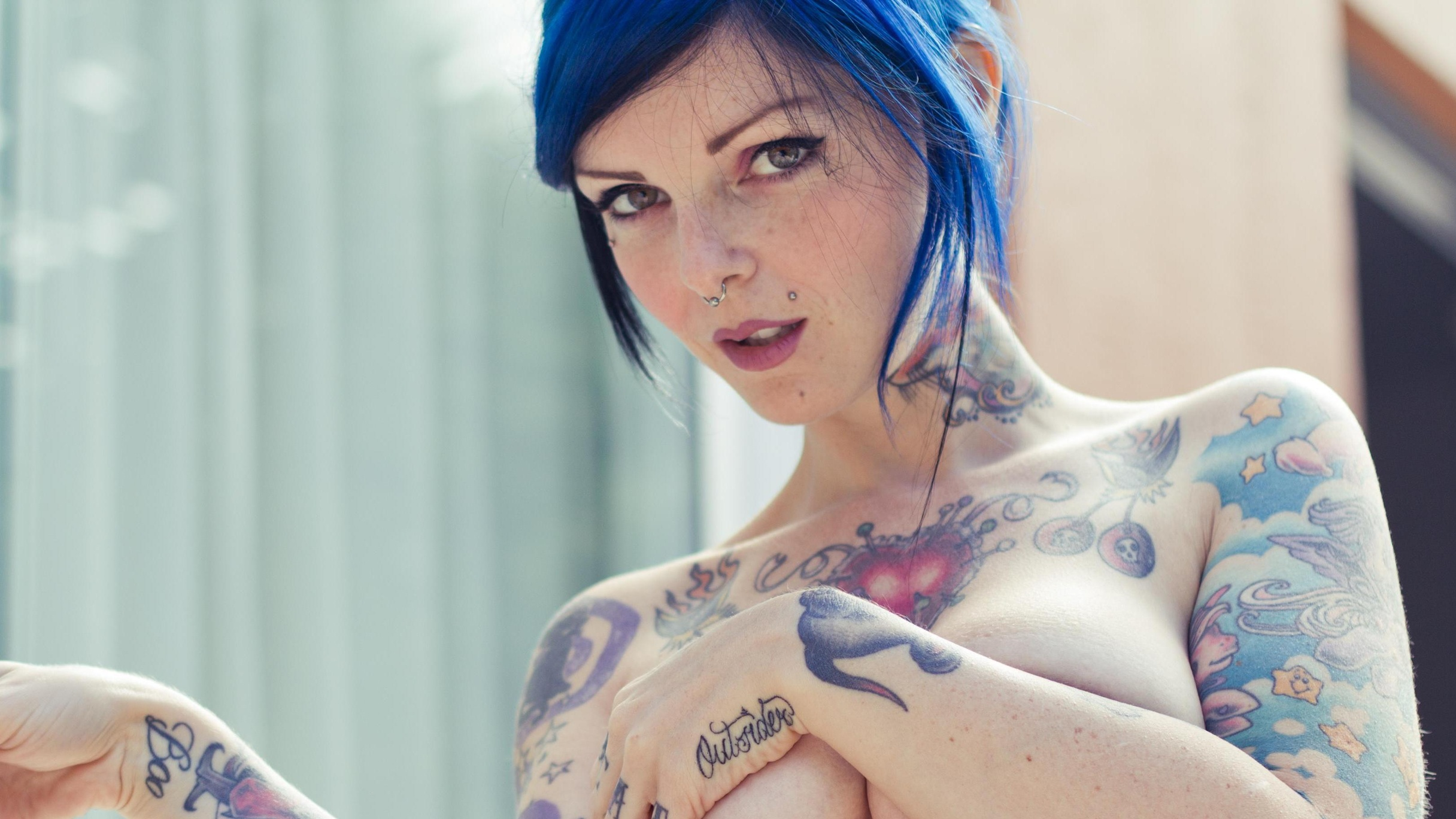 Riae Suicide  - Hidden Garde suicidegirls @riae portugal,wolfstyle,blue,hair,sglx