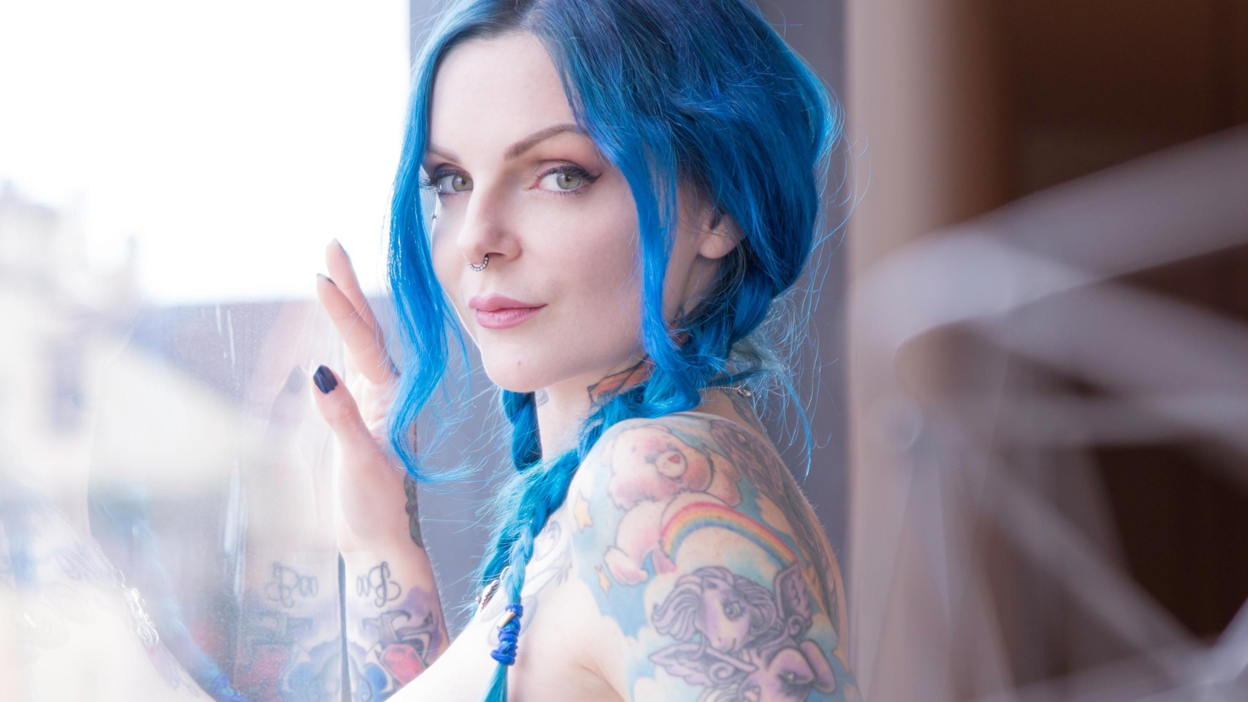 Riae Suicide  - Blue Reflect suicidegirls @riae goddess,wolfstyle,mark,lewolf,belle