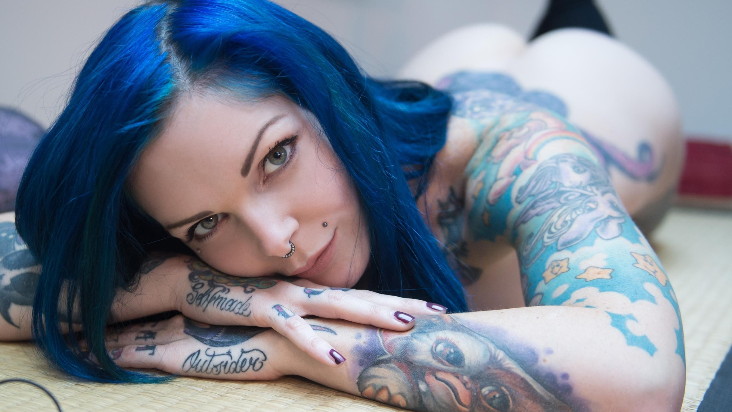 Riae Suicide  - Let The Musi suicidegirls @riae goddes,hint,butthole,wanna,cuddle