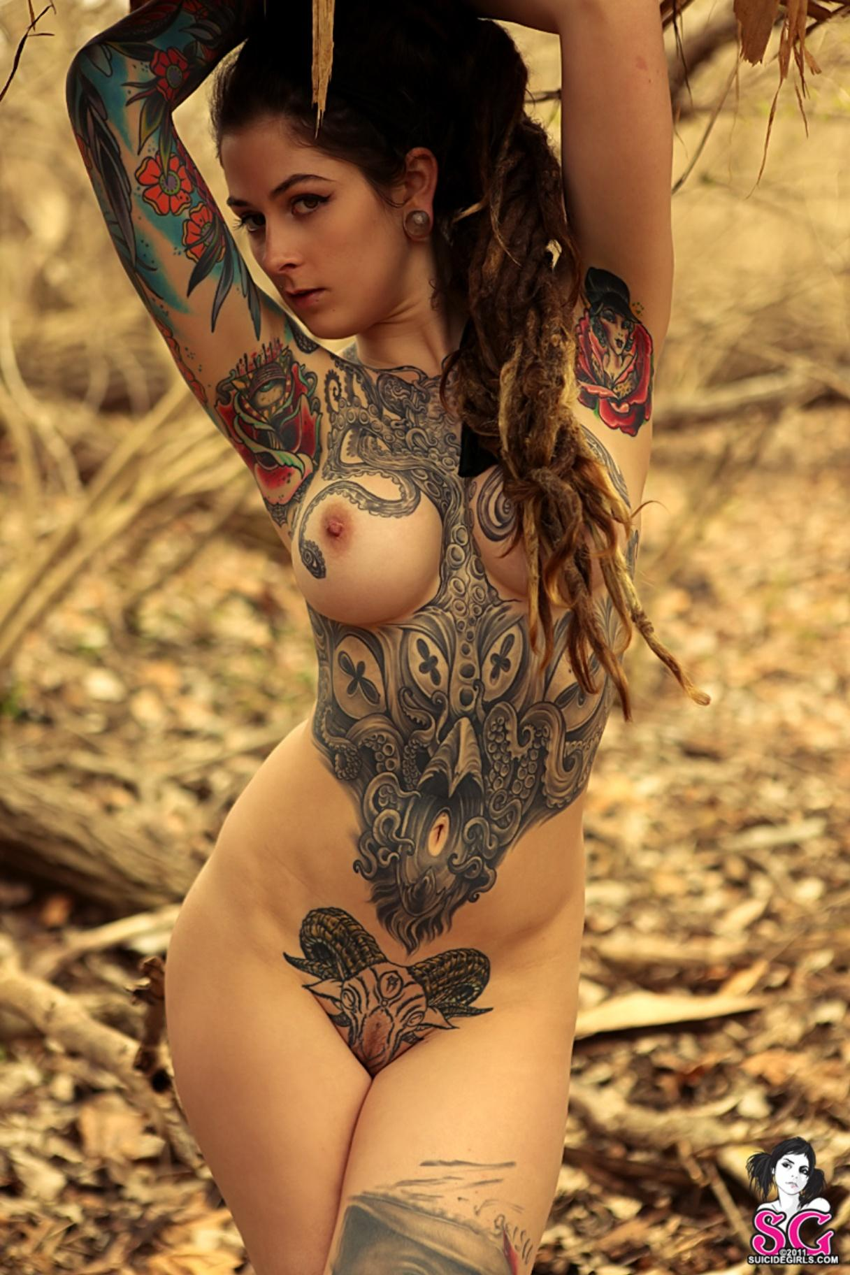Women tattoo full body naked pics 373